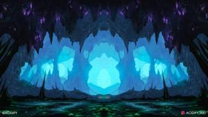 Jagged (2D Fantasy Cave Landscape / Symmetry Art)
