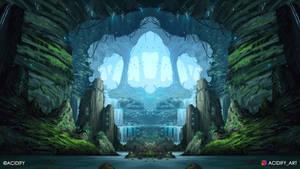 Elven City (Fantasy Landscape / Symmtery Art)
