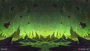 Cosmic (Sci-Fi Fantasy Landscape / Symmtery Art)
