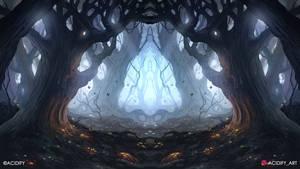 Epiphany (Fantasy Forest / Symmetry Concept Art)
