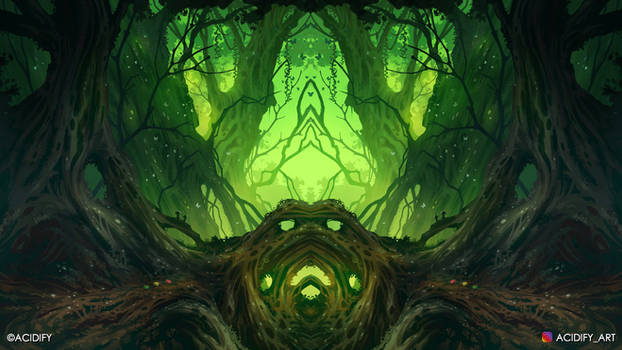 Void (Fantasy Forest / Symmetry Concept Art)