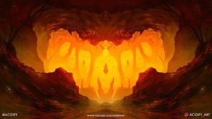 Scoria (2D Cave Landscape / Symmtery Art)