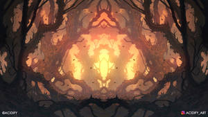 Drought (Fantasy Forest / Symmetry Concept Art)