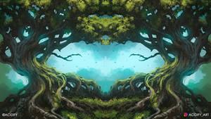 Genesis (Tree Landscape / Symmetry Concept Art)