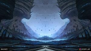 Gravity (Sci-Fi Fantasy Landscape / Symmtery Art)