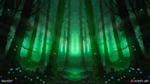 Dream (Fantasy Forest / Symmetry Concept Art)
