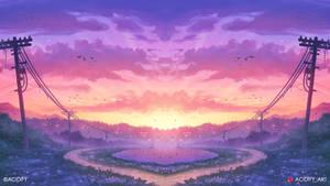 Sundown (Sunset Valley / Study Concept Art)