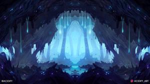 Gem (Fantasy Cave Landscape / Symmtery Art)