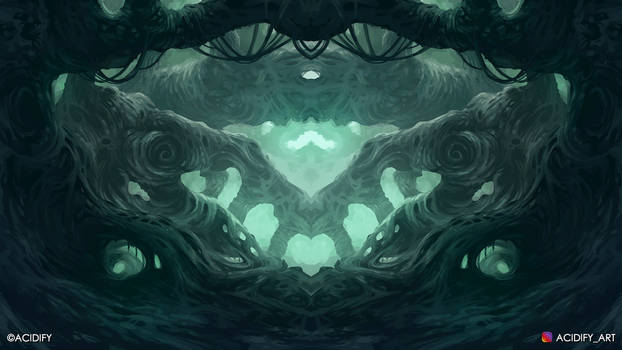 Warped (Fantasy Forest / Symmetry Concept Art)