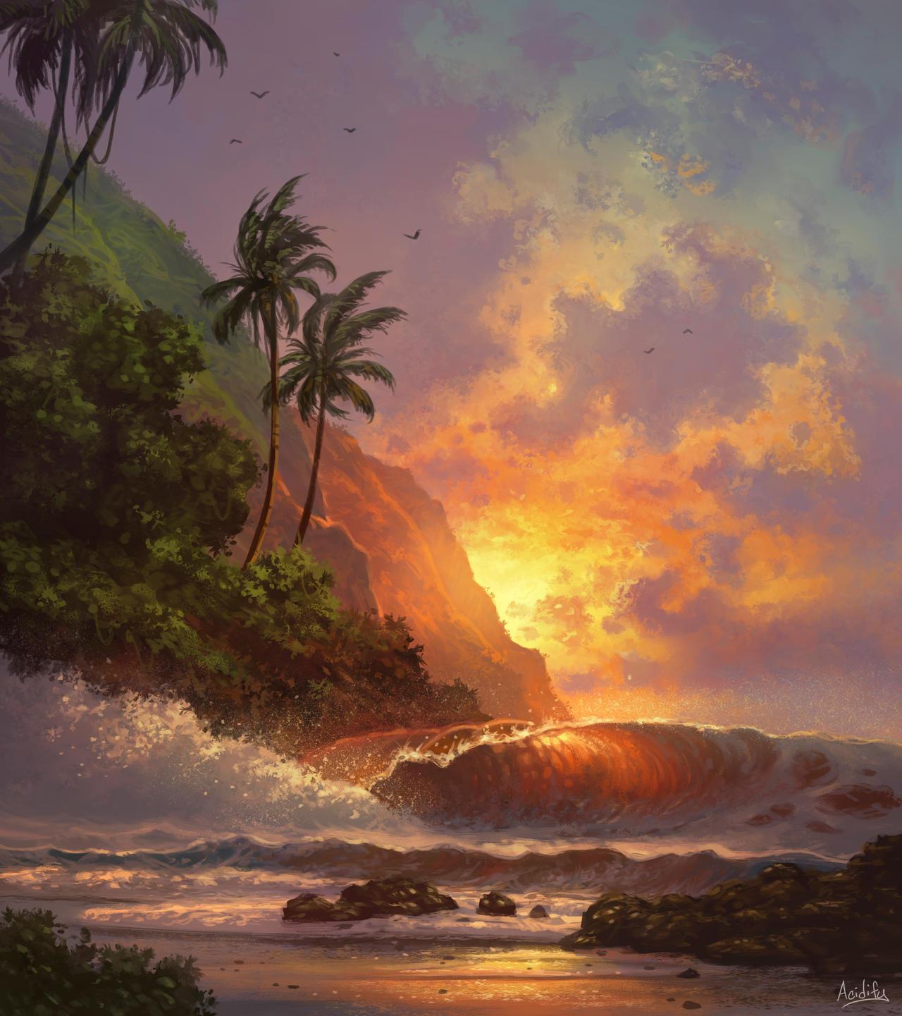 Hawaii (Beach Landscape / Seascape Study)