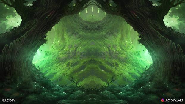 Trunk (Fantasy Forest / Tree Symmetry Concept Art)