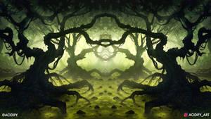 Wasteland (Fantasy Forest / Symmetry Concept Art)