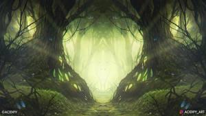 Cortex (Fantasy Forest Tree Symmetry Concept Art)