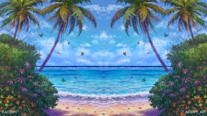 Summer (Beach Landscape / Seascape Symmetry Art)