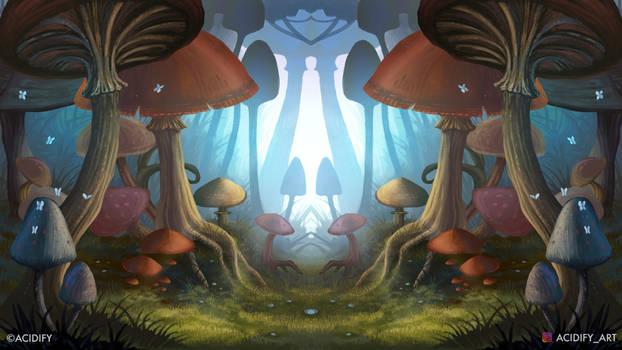 Shrooms (Trippy Mushroom / Symmetry Concept)