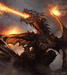 Drakuseth the Dragon (Fan Art / Study Concept Art)