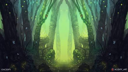 Meadows (Fantasy Forest / Symmetry Concept Art)