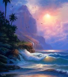 Seaside (Beach Landscape / Seascape Study)