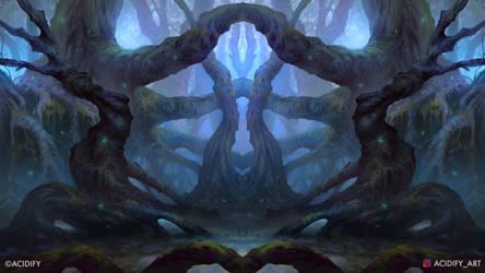 Myth (Dark Forest / Symmetry Study Concept Art)