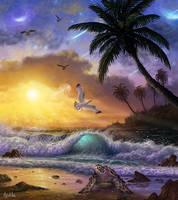 Universe (Seascape Digital Painting / Concept Art)