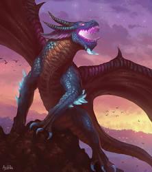 Komodo (Fantasy Dragon / Sunset Concept Art)