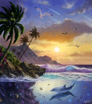 Aquatic (Seascape Digital Painting / Concept Art)