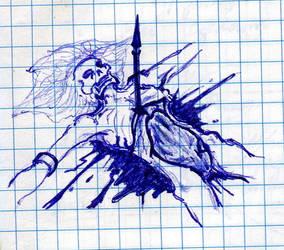 Impaled Corpse by alnikkur