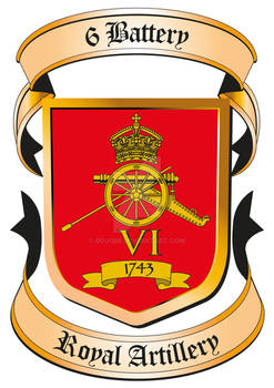 6 Battery Royal Artillery Crest
