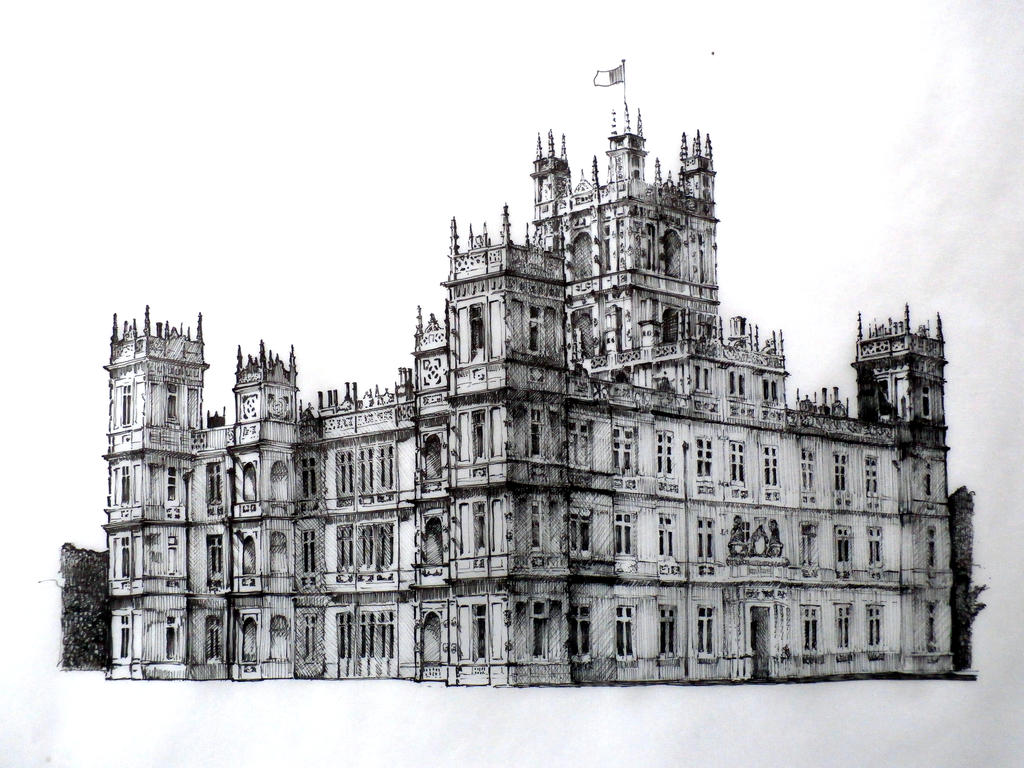 Highclere castle downton abbey by rojobe on deviantart - Downton abbey chateau ...