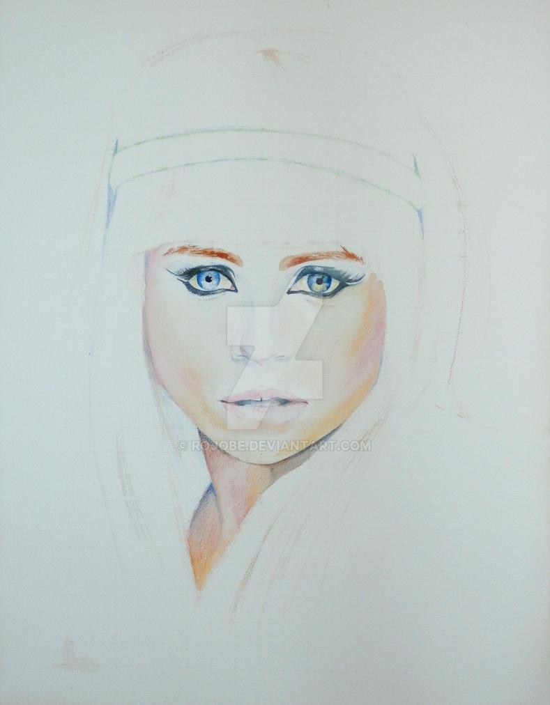 Portrait WIP by rojobe