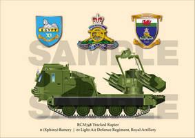 Tracked Rapier 11 Battery 22 LAD Regt