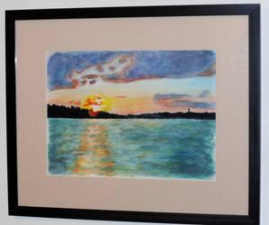 Sunset Lake - Hanging in Museum