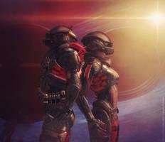 Mass Effect Andromeda - First anniversary by StarsandSkies-Art