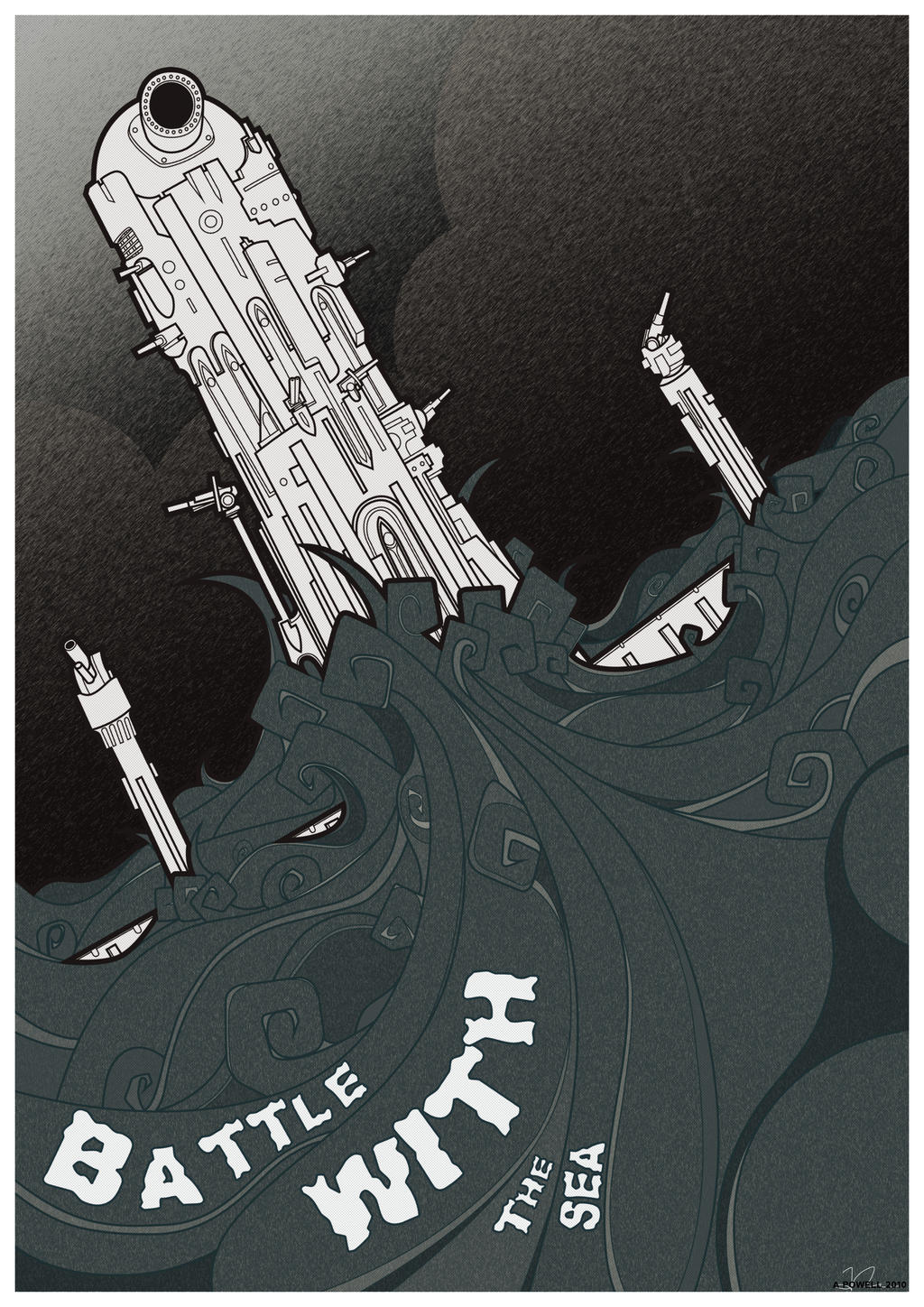 Battle with The Sea by the-dumb-waiter