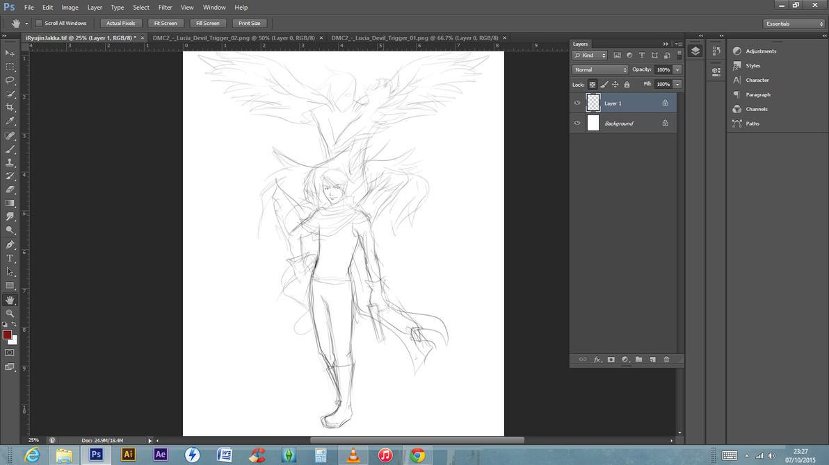 Rough sketch - iRyujinJakka by Denba-kun