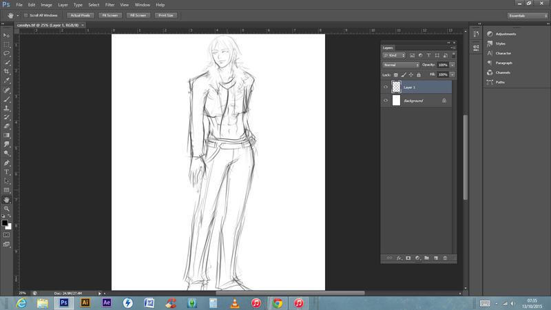 Rough sketch - Cassilys by Denba-kun