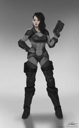 Sci-fi Female Soldier