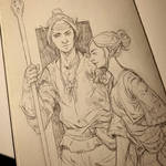 Elves in the sketchbook