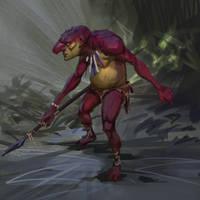 Daily sketch slimy troll by Jordy-Knoop