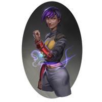 Sci-fi girl by Jordy-Knoop