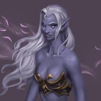 Dark Elf Sketch by Jordy-Knoop