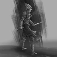 High Elf Sketch by Jordy-Knoop