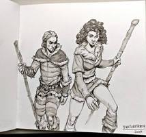 Inktober day 14! Fierce! by Jordy-Knoop