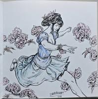 Inktober day 17! Elegance by Jordy-Knoop