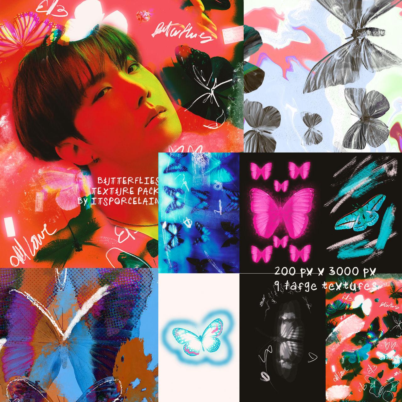 BUTTERFLIES TEXTURE PACK 01 BY ITSPORCELAIN