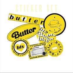 STICKER SET BTS BUTTER PNG BY ITSPORCELAIN