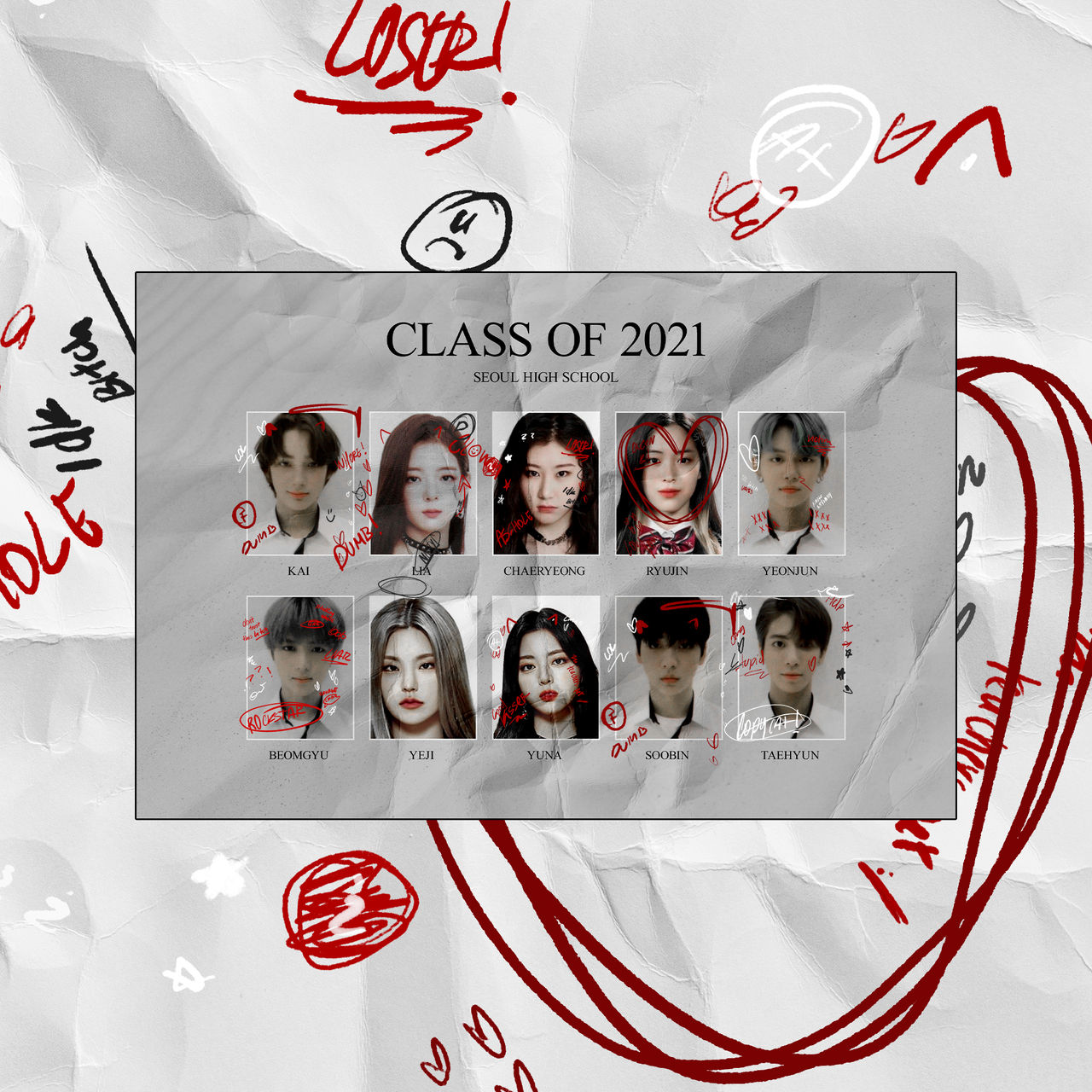 TEXTURE PNG YEARBOOK DOODLES BY ITSPORCELAIN
