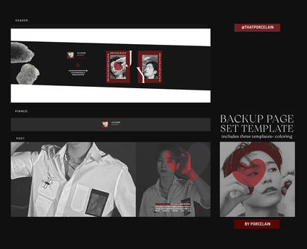 PACK PAGE TEMPLATES PSD BY ITSPORCELAIN