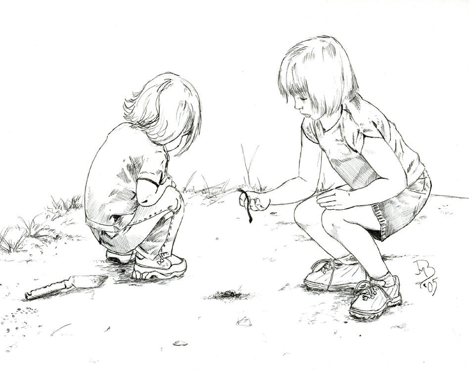 Children playing drawing