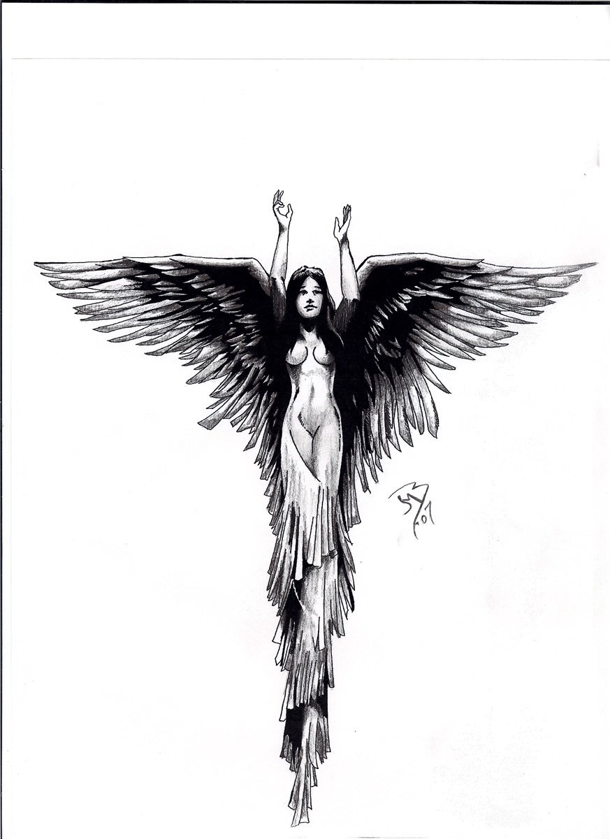 Angel Tattoo by jeremiah222 on DeviantArt
